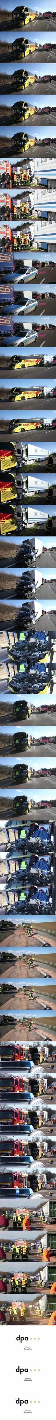 Zwei Tote bei Unfall mit Reisebus in Hessen - dpa audio & video service